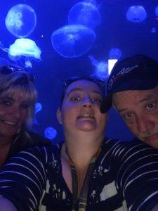 Ashley Stamper at Newport Aquarium with her Dad